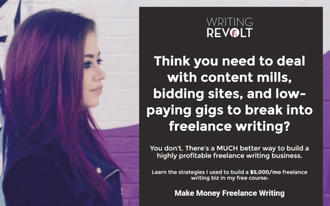 Writing Revolt is one of my favorite resources for freelance writers.